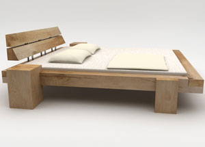 Oak beam bed, in many designs and sizes, from solid wood