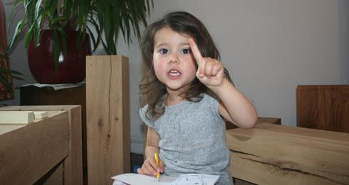 Unsere Tochter hilft mit