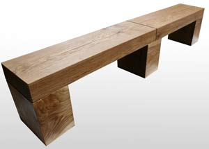 Benches in many lengths and styles of solid wood