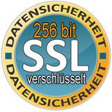 256 bit SSL verschlüsselt. Ihre Daten sind sicher