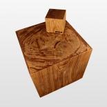 Holzklotz Würfel 15cm und 50cm geölt