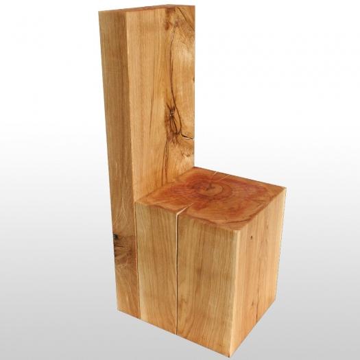 holzblock stuhl aus eiche extrem schwer und stabil auf rollen. Black Bedroom Furniture Sets. Home Design Ideas