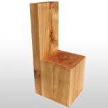 Chaise en bloc de chêne