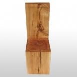 Chaise bloc en bois