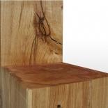 Chaise de bloc en bois brut