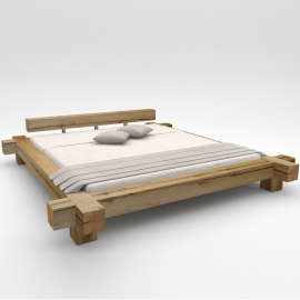 "Oak beam bed ""Good night"""
