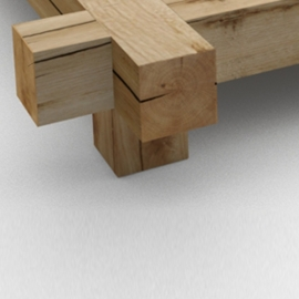 2 Wooden legs rectangle