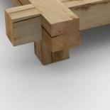 2 Holzbeine Quader