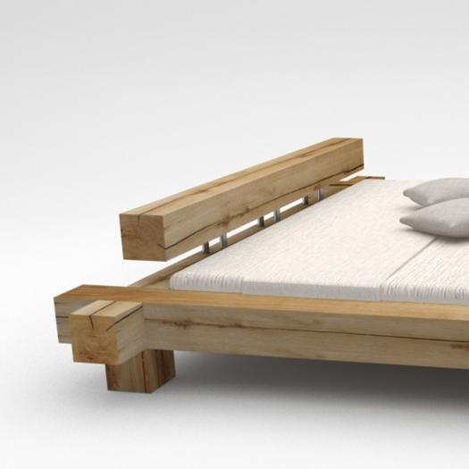 Dossier pour lit en poutre de chêne massif