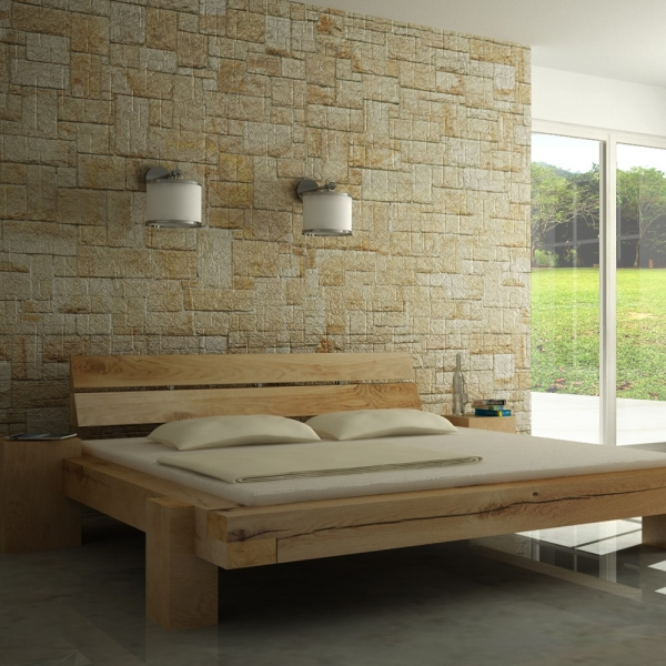balkenbetten wildeiche lange nacht mit integrierten beistelltischen. Black Bedroom Furniture Sets. Home Design Ideas