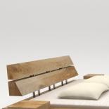 Dossier pour lit de poutre en bois massif