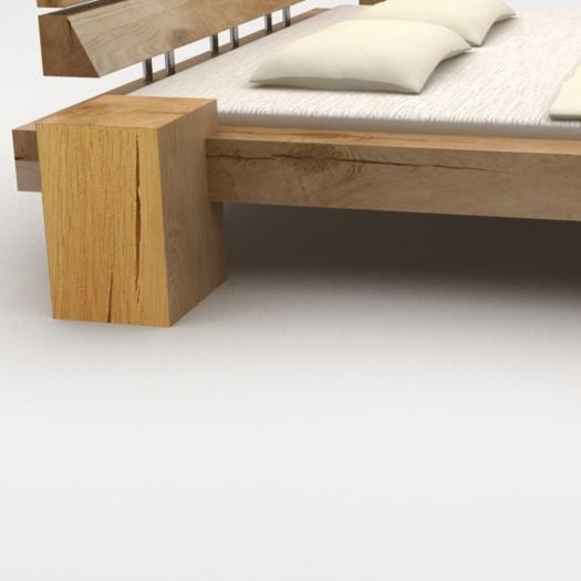 2 pieds en bois pour lit de poutres