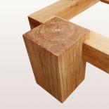 Holzbeine Topway 30cm x 30cm Sitzhöhe 45cm geölt, an Balken 15cmx15cm