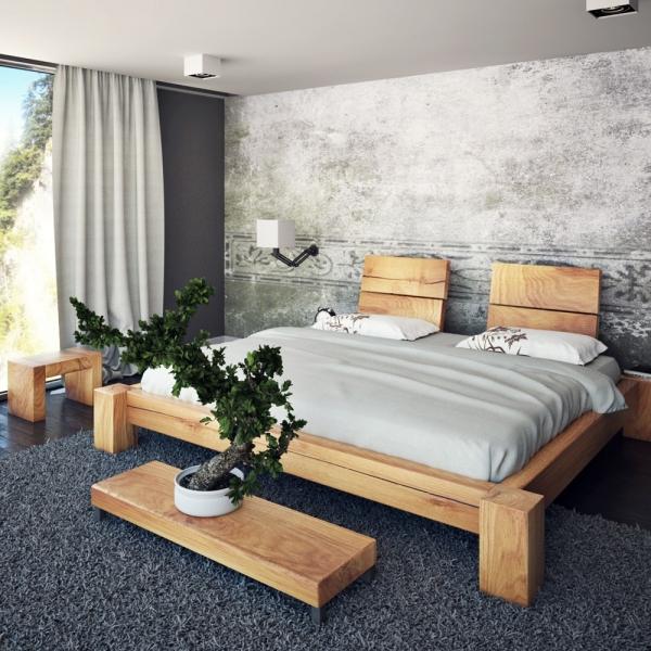 holzbalken bett aus eiche konfigurierbares balkenbett. Black Bedroom Furniture Sets. Home Design Ideas