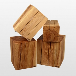 Organic stool ash wood