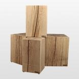Tabouret en bois naturel et brut