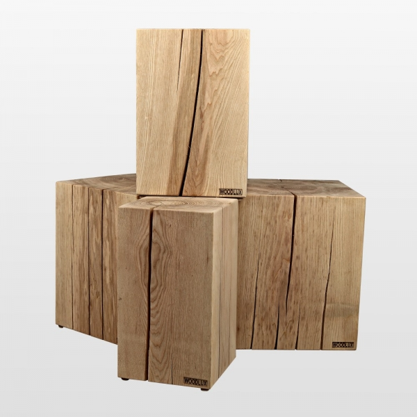 Holzblock Aus Esche Holzklotz Hocker 100 Massivholz Aus Esche