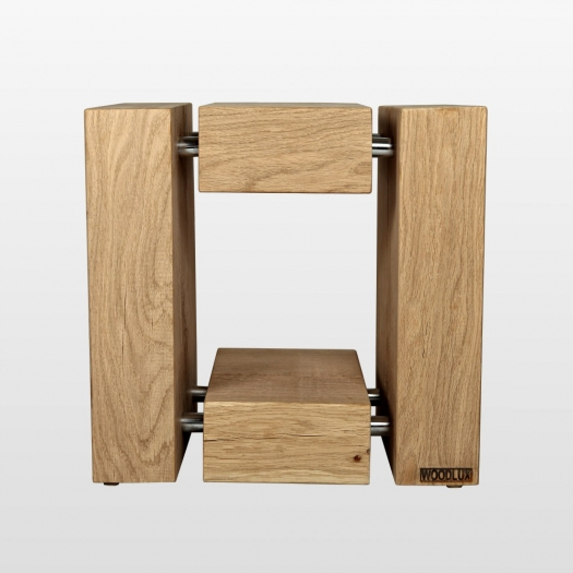 Design wooden stool oak