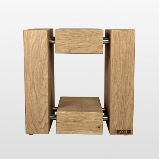 Tabouret design en bois de chêne