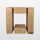 Design  Holzhocker Eiche
