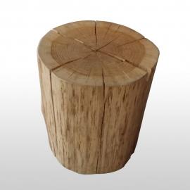 Tabouret tronc d'arbre en chêne naturel