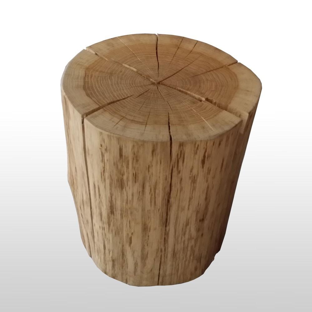 baumstamm hocker - holzklotz aus eiche als runder sitzhocker aus