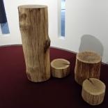Tronc d'arbre pilier naturelle chêne