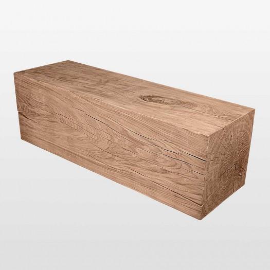 Banc d'un morceau de tronc d'arbre