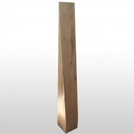 Wooden block pointed