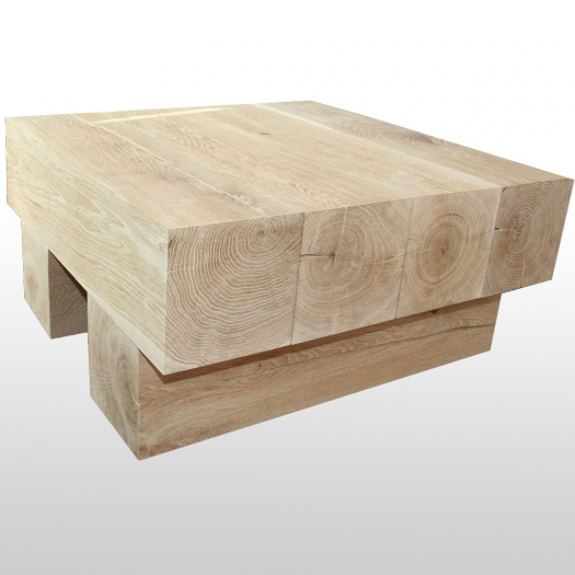 Coffee table 4Square square solid wood polished oak