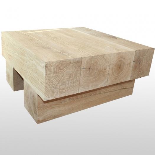 Table basse 4Square carré en bois massif chêne massif