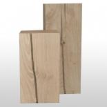 Pilier en bois de chêne 25cm x 25cm poli