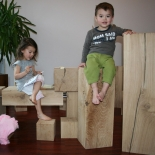 Colonne en bois 25cm x25cm