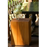 Tabouret bois en chêne hauteur 45cm avec huile
