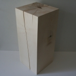 Holzblock 20x20x45cm Bergahorn