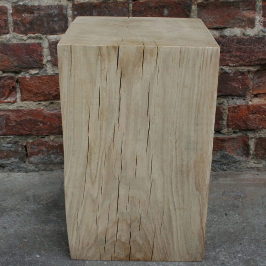 Wood block column 25 x 25 x 40 oak