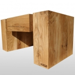 Holzbalken Tisch Chromos geölte Eiche