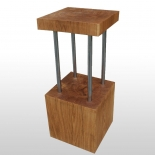 Block of wood bar stool