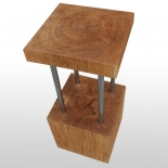 Block of wood bar stool oak