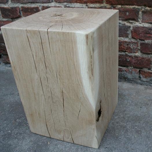 Tabouret en bois 30x30x45 chêne