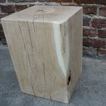 Block 30 x 30 x 45 stool oak