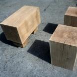Set 2 Hocker mit Sitzbank