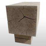 Holzblock Sitzbank 1Block