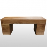 Bench with wooden beams 30 cm x 40 cm x 100 cm