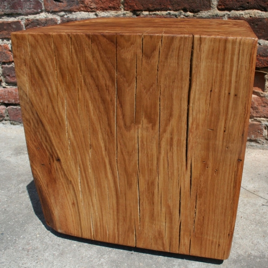 Block of wood coffee table 40 x 40 x 40 oak