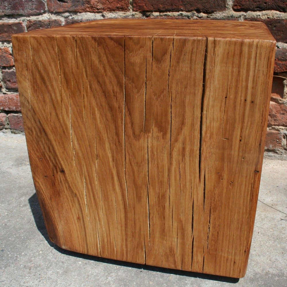 Block of wood coffee table 40 cm x 40 cm x 40 cm