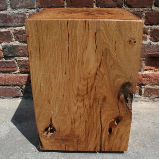 Block of wood coffee table 35 x 35 x 50 oak