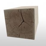 Sitzbank aus einem Baumstamm Stück