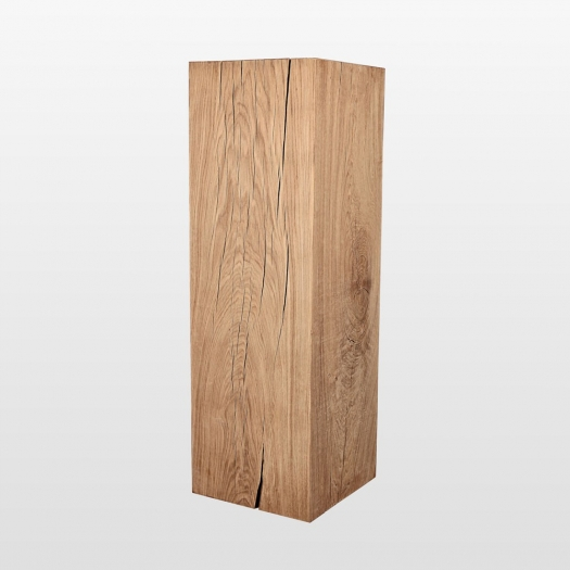 Dekosäule Holz  40cmx40cm 100cm hoch naturbelassen