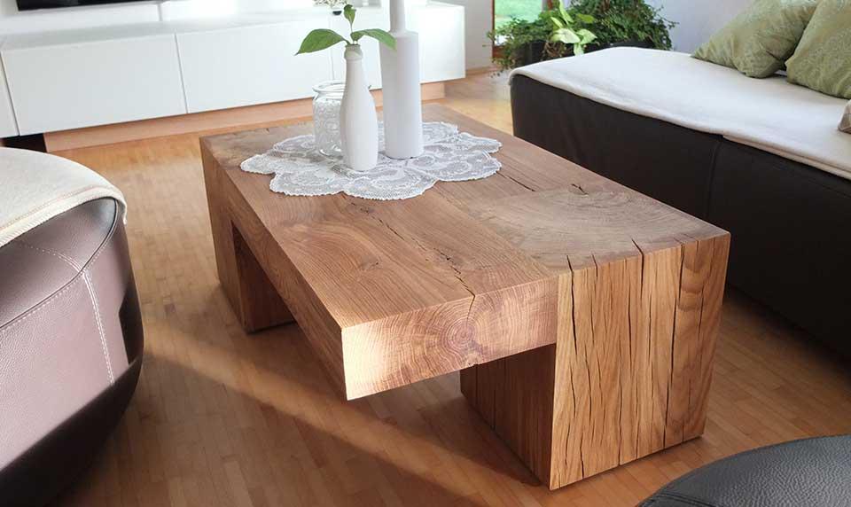 woodlux massivholzm bel aus einem st ck holzbl cke und holzs ulen woodlux. Black Bedroom Furniture Sets. Home Design Ideas